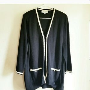 St. John Collection Couture Designer Wool Cardigan